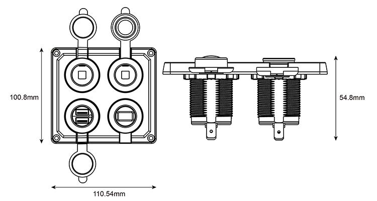 TE4-1525尺寸标示